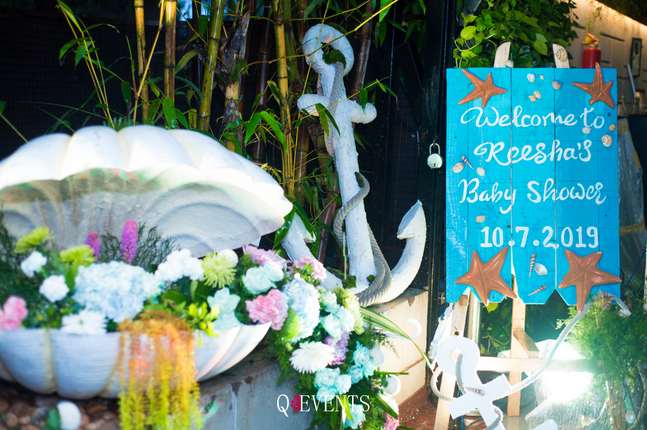 Sea Themed Baby Shower for Reesha