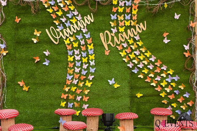 Riaana Viaana's fairy garden themed birt
