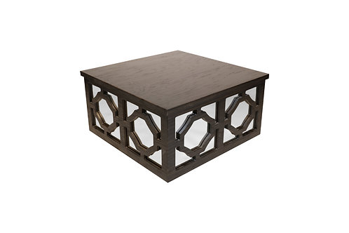 Norya Center Table (Rustic Black)