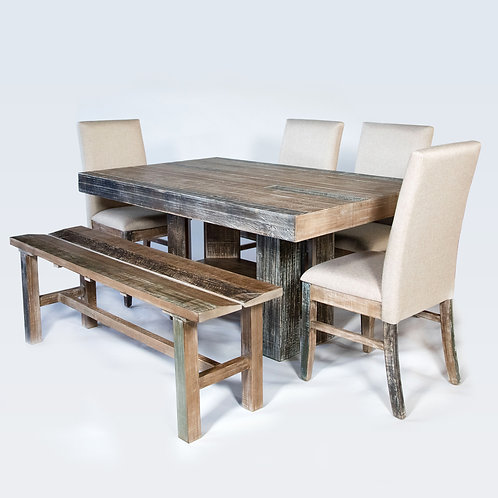 Denver Reclaimed Wood Dining Table Set
