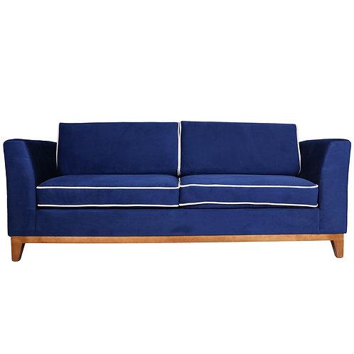 Sofa Roberta (Indigo Blue with Cream Border)