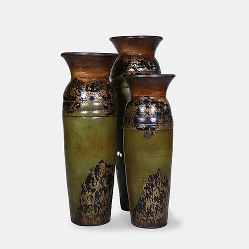 Ringed Vases (Earth Tones Set of 3 Pieces)