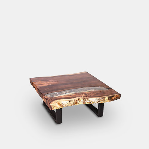 Live Edge Table with Glass #3