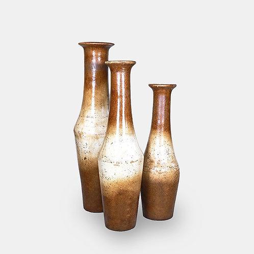 Trompeta Vases (Vintage Brown Set of 3 Pieces)