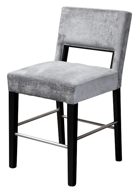 Bureen Counter Height Bar Stool / Upholstery: Ravena Steel