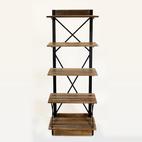 Rustic X 5 Shelf