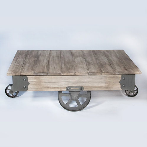 Vintage Wheel Center /Coffee Table