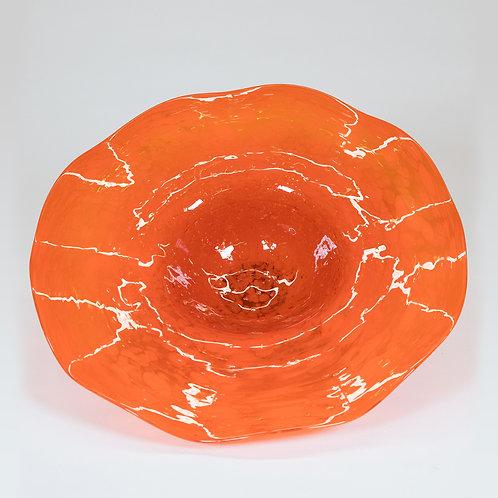 3 Piece Glass Wall Decor Set (Orange)