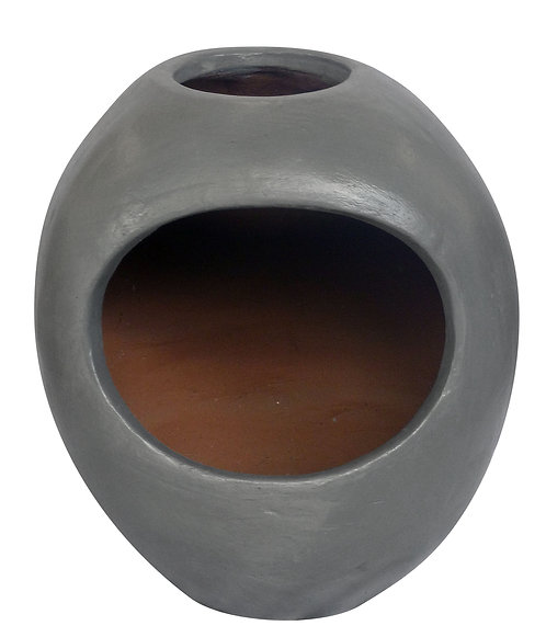 Ellipse Clay Chimenea (Grey)