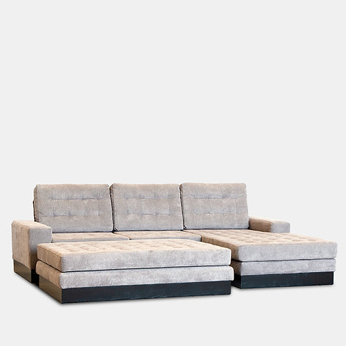 Cuba Sectional Right Side Chaise With Ottoman