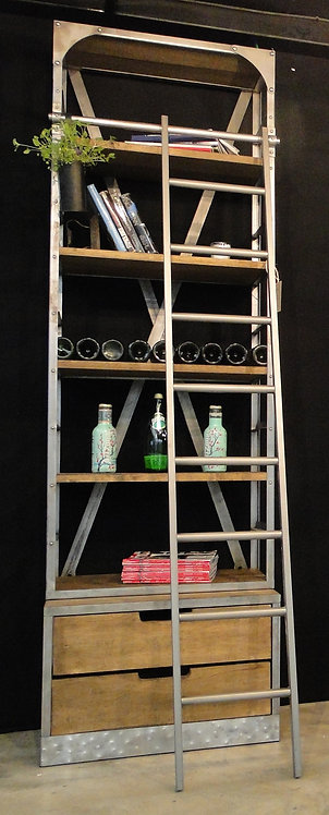 Vintage Shelving Unit With Ladder (Small)