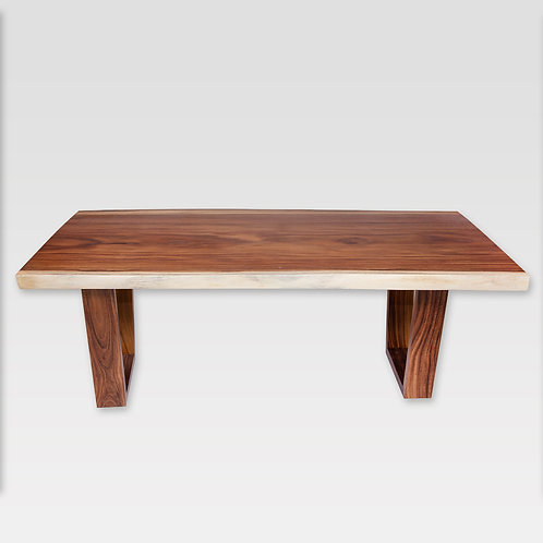 Live Edge Dining Table With Solid Wood Legs