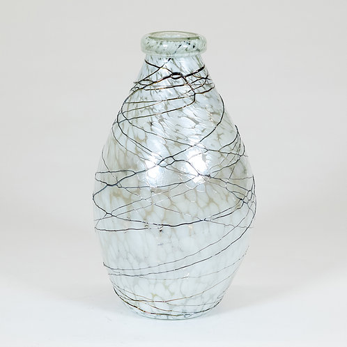 Hand Blown Glass Oval Vase