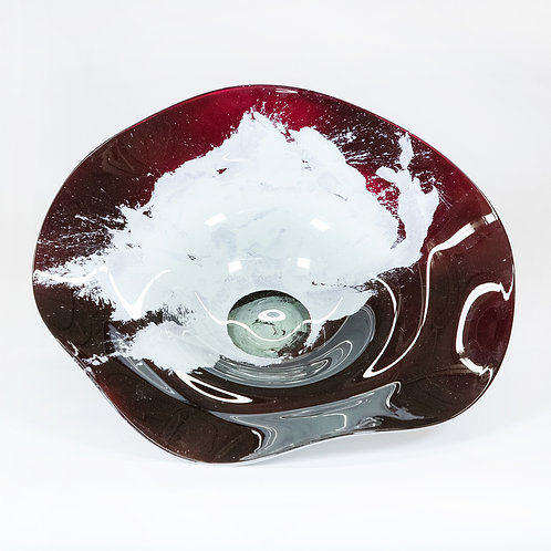Glass Wall Decor Set 3 piece Set (Wine/White)