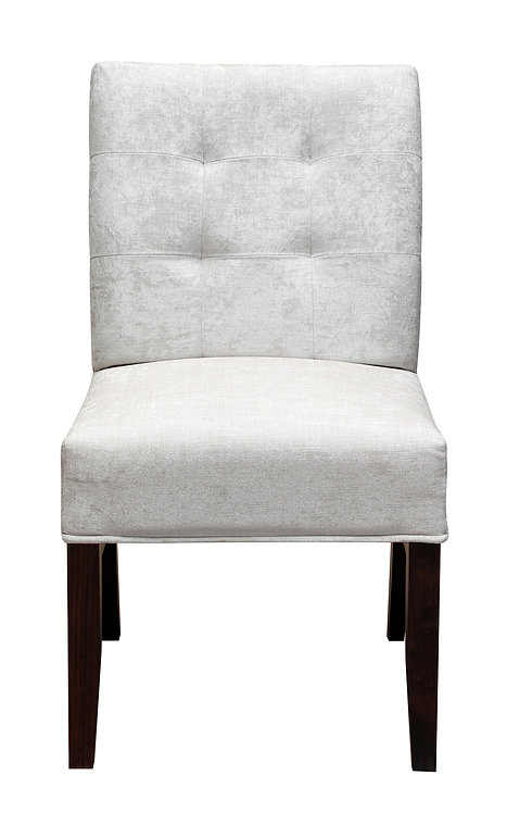 Elite Side Dining Chair-White Fabric