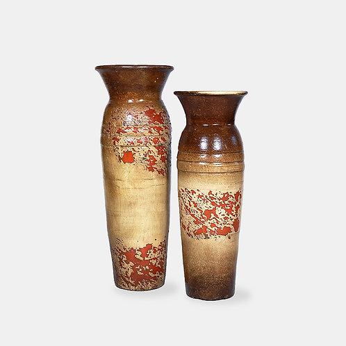 2-Ringed Vases (Brown Set)