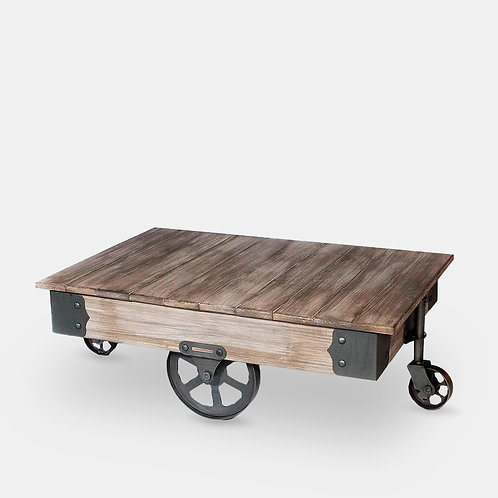 Vintage Coffee Table with Wheels