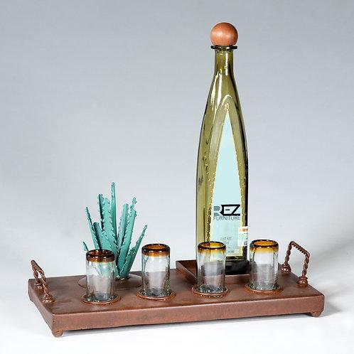 Tequila Bottle Holder Tray