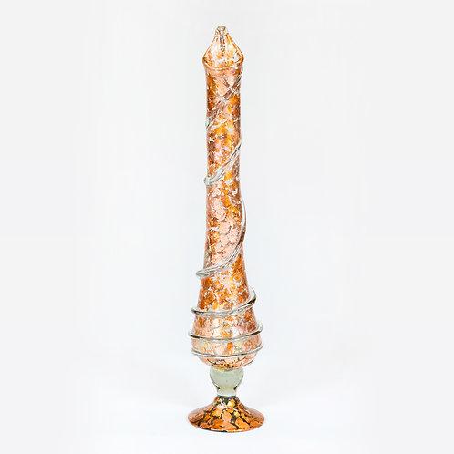 Hand Blown Glass Tall Vase