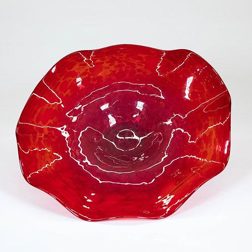 3 Piece Glass Wall Decor Set (Red)