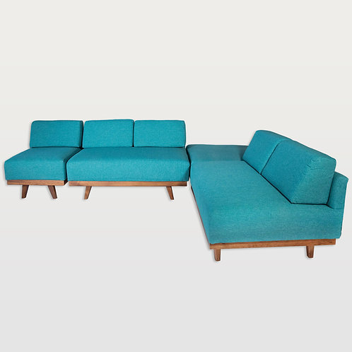Sectional Sofa (Blue)