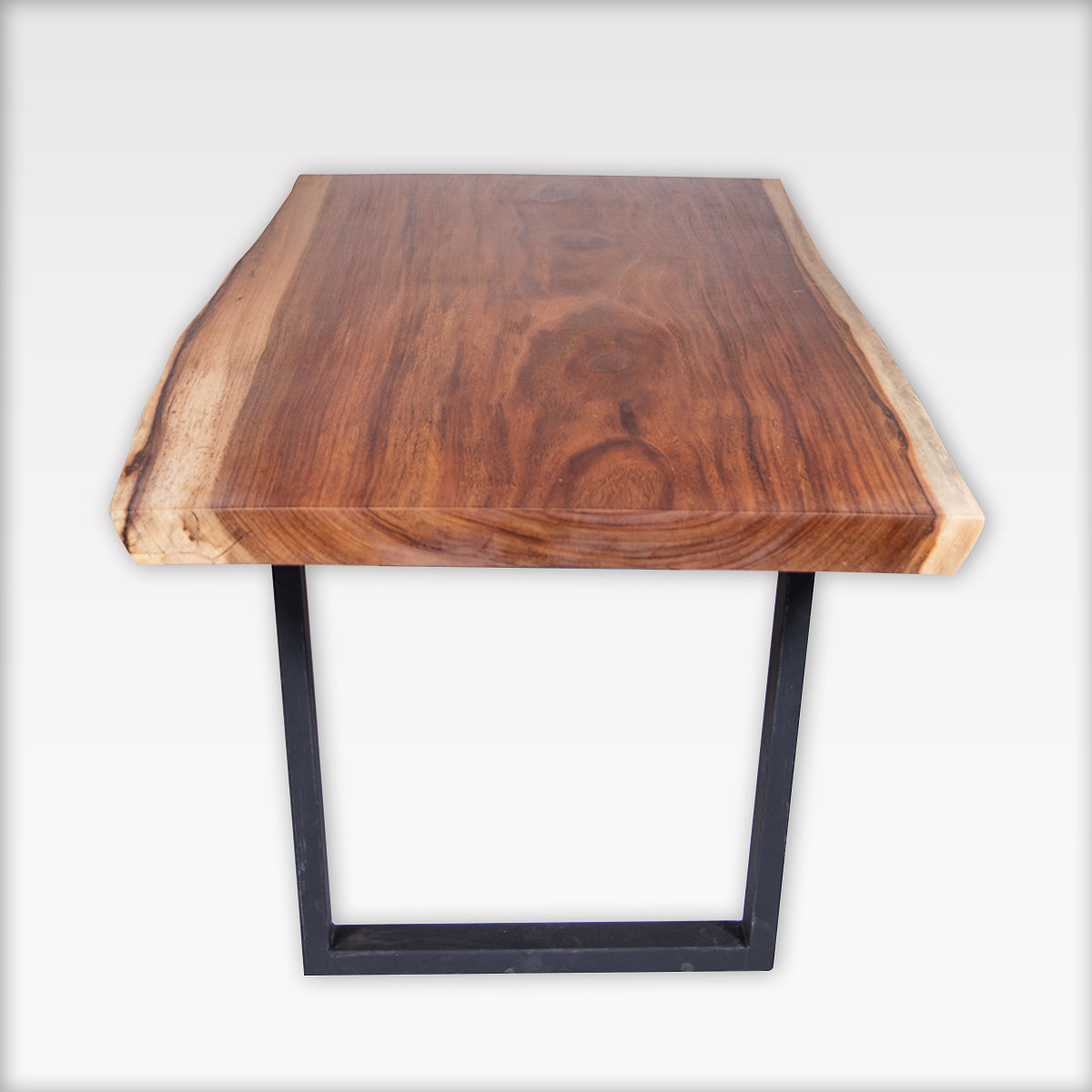This Stunning Live Edge Table Features Black Metal Base Legs That Add A  Modern Touch To A Rustic Piece. This Table Is Guaranteed To Elicit An  Instant U201cwowu201d ...
