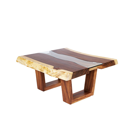 Live Edge Wood Table With Glass 11