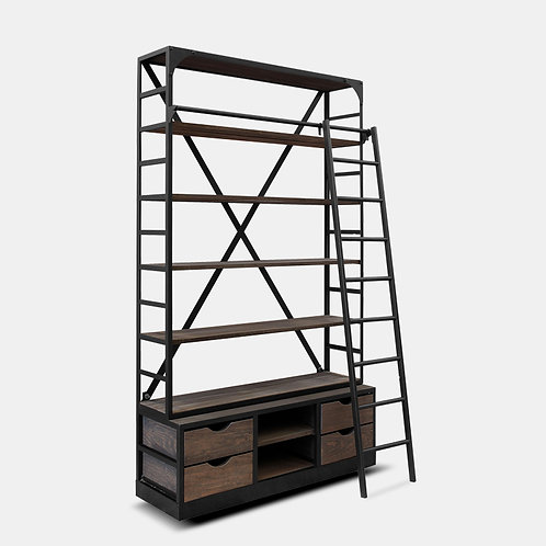 Vintage Shelving Unit With Ladder (Large)