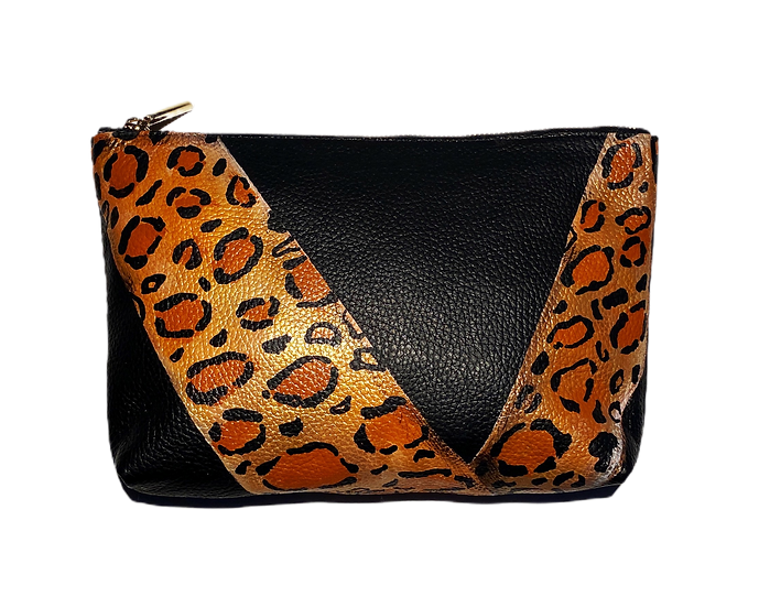 Cheetah Angular Blocking Clutch Bag