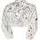 Thumbnail: Pollack-Inspired White Splatter Levi Cropped Jean Jacket