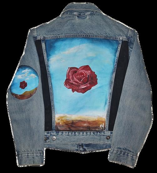 Dali Floating Rose Denim Jacket