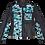 Thumbnail: Ice Blue Metallic Camouflage Vintage Diesel Leather Jacket