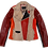 Thumbnail: Rock'N Roll  Red Color Blocking Studded Leather Jacket