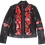 Thumbnail: Expressionistic Red Floral Luxury Designer Leather Jacket