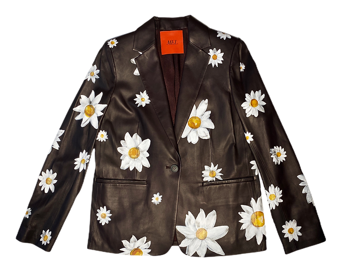 Cover Me With Daisies Leather Blazer