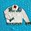 Thumbnail: Metallic Blues Floral Jean Jacket