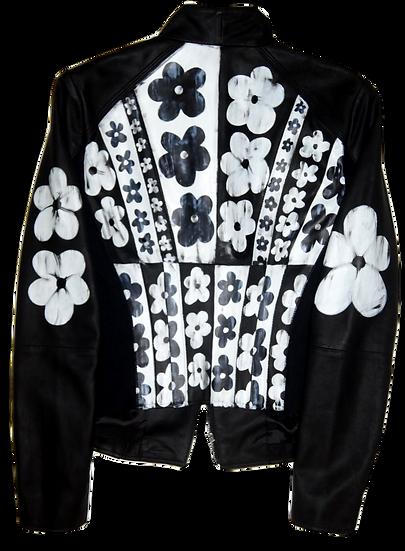 Warhol-inspired White & Black Motorcycle Jacket