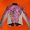 Thumbnail: Pink Ladies Cheetah Leather Moto Jacket