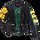 Thumbnail: Warhol-Inspired Yellow Floral Designer Luxury Moto Leather Jacket