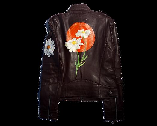 Mod Daisy Leather Moto Jacket