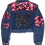 Thumbnail: Butterfly&Camo Vintage Belted Denim Jacket