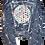 Thumbnail: Pollack-Inspired Metallic Polka Dot Splatter Luxury Jean Jacket