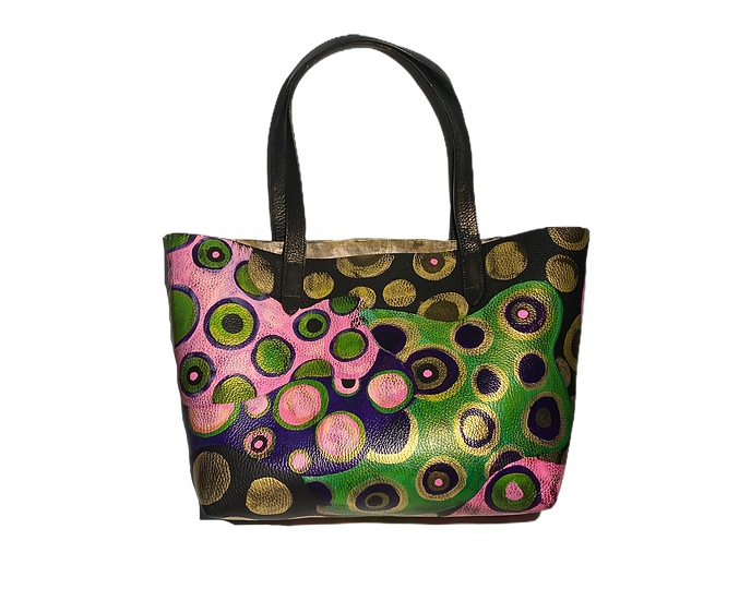 Go Go Chic 60's Leather Tote