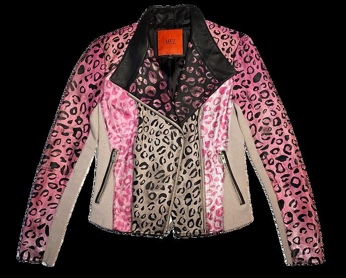 Pink Mini Cheetah Motorcycle Jacket