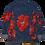 Thumbnail: Red Floral Levi Denim Jacket