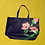 Thumbnail: Surreal Pink Flower Leather Tote