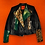 Thumbnail: Rock&Roll Green/Cheetah  Leather Motorcycle Jacket
