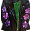 Thumbnail: Warhol-Inspired Purple Floral Luxury Leather Moto Jacket