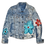 Thumbnail: Pollack x Warhol Inspired Metallic Splatter Floral Luxury Jean Adult/Kids Jacket