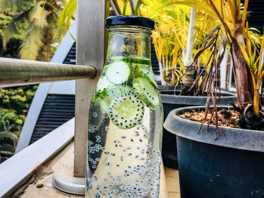 Cucumber + Lime + Basil Seeds Infused Water benefits and side effects